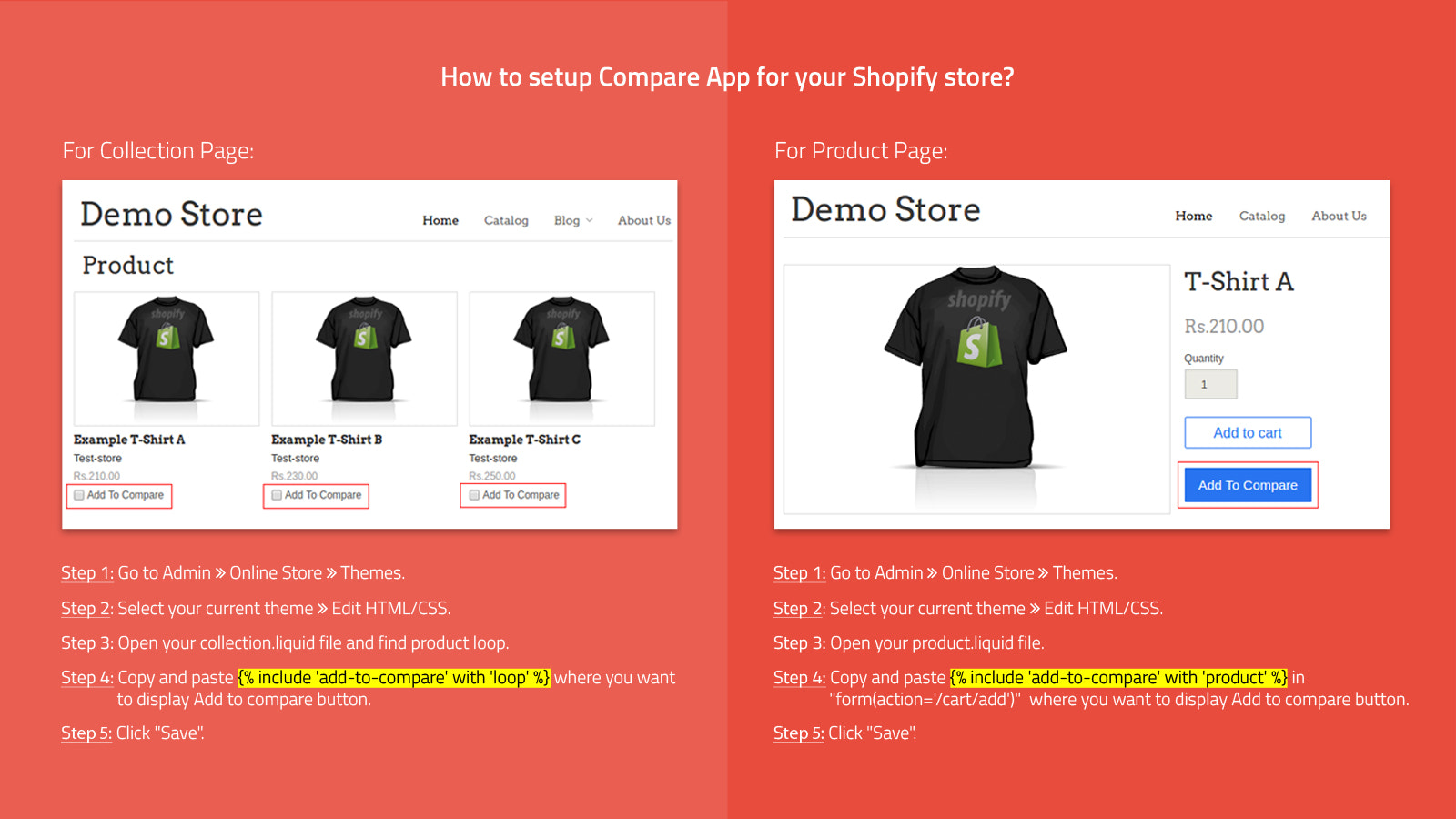 how compare app and variuous options will work & steps to follow