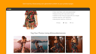 Showcase user generated content (UGC)