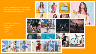 Embed shoppable Instagram galleries