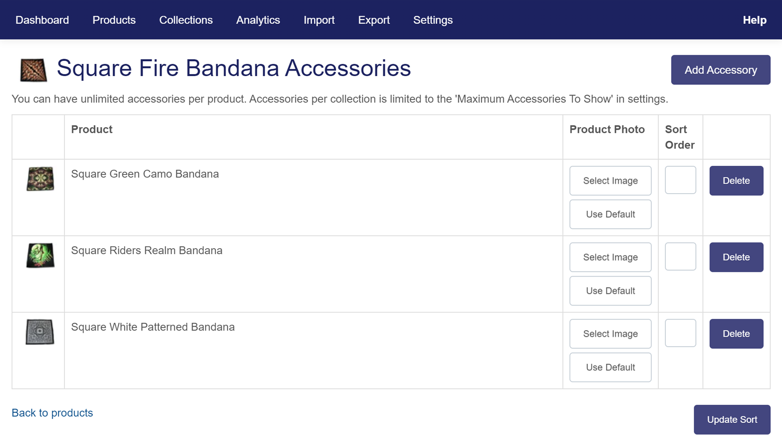 Product Accessories Manage Products | W3Trends