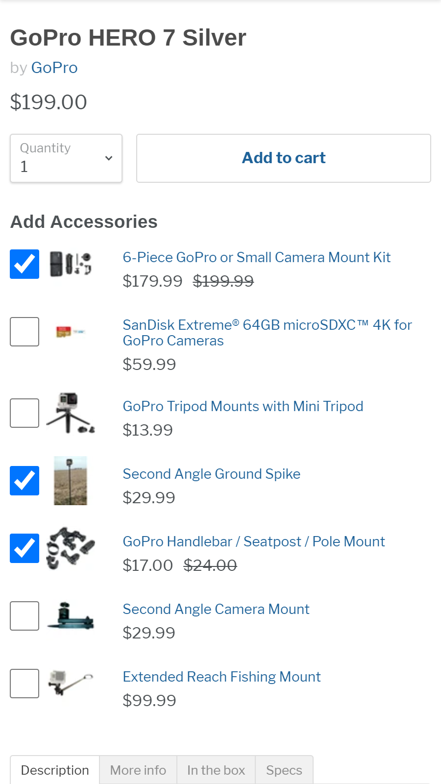 Product Accessories Mobile Front End | W3Trends