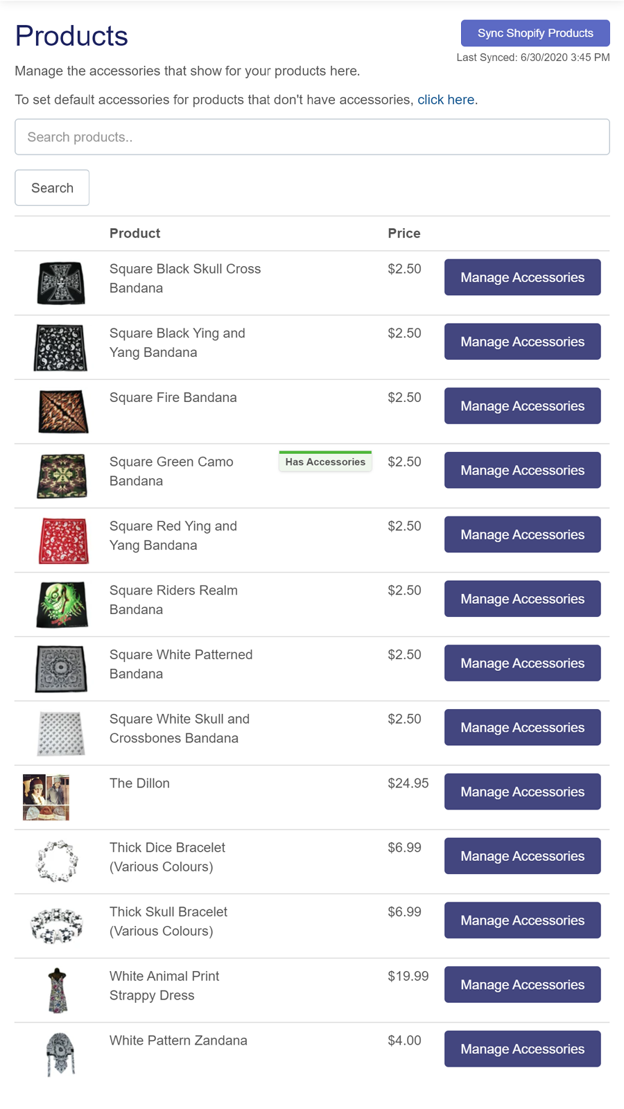 Product Accessories Mobile Products Page | W3Trends