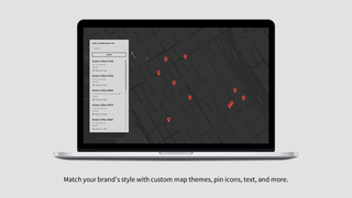 Match your brand's style with custom map themes, pin icons, text