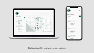 A beautiful store locator for any screen and platform.