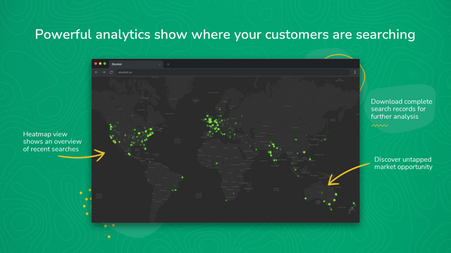 Powerful analytics show where your customers are searching