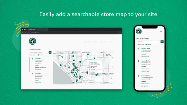 Easily add a searchable store map to your site