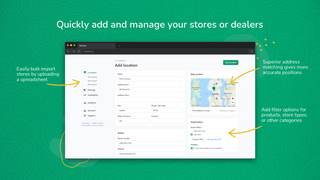 Quickly add and manage your stores or dealers