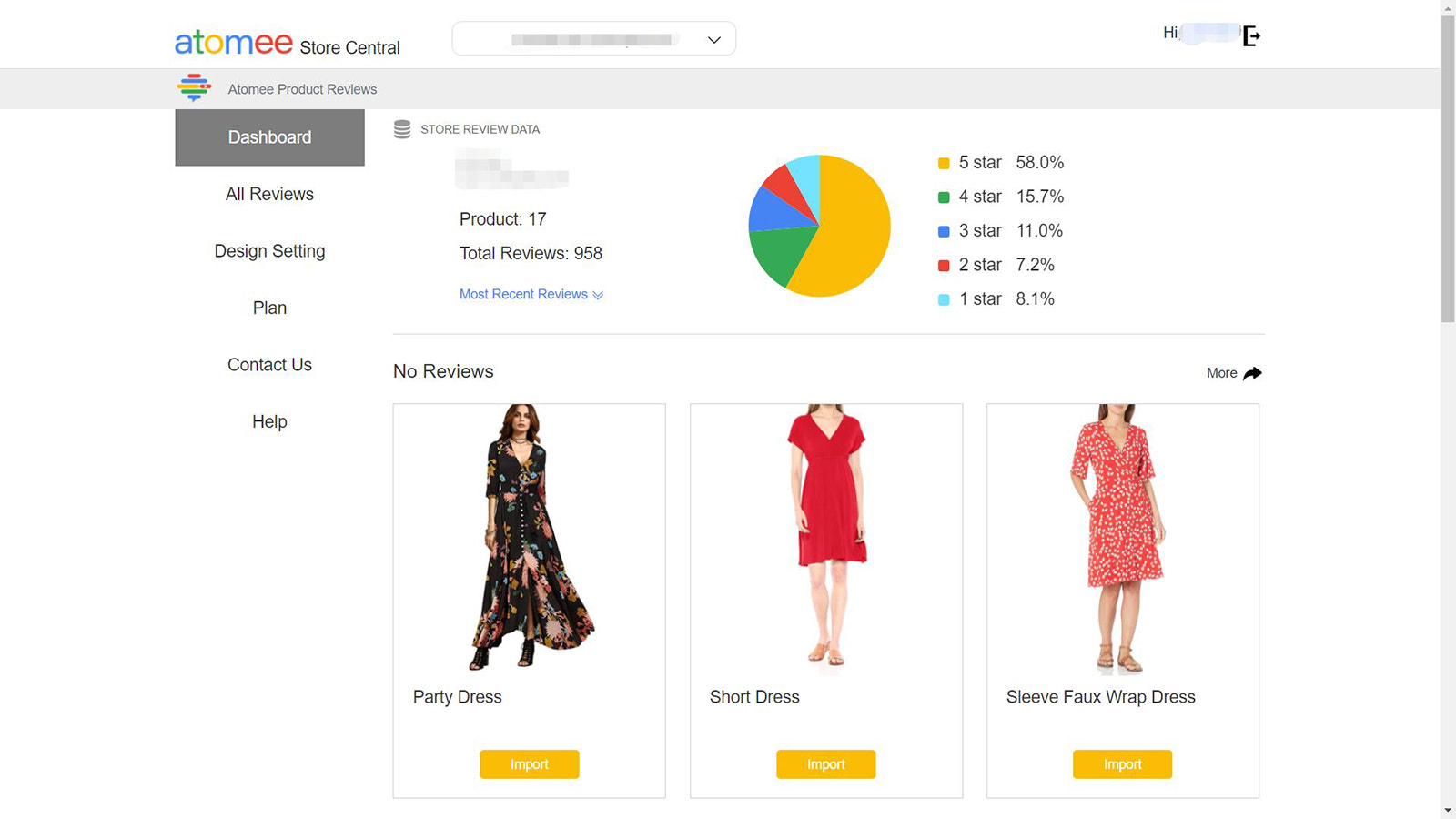Atomee Product Reviews Dashboard