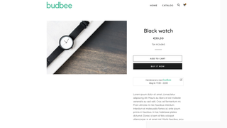 Widget on the Product detail page with accurate shipping info