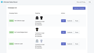 Shopify App Ultimate Sales Boost by Hextom Trust Badge