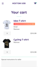 Shopify App Ultimate Sales Boost by Hextom on cart page
