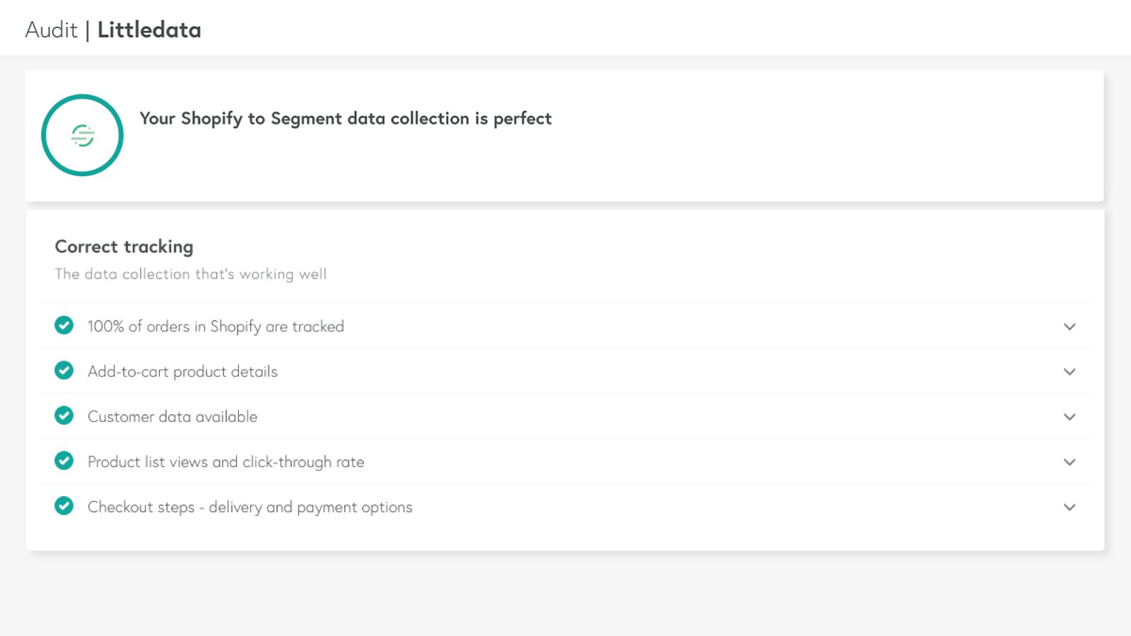 Connect Shopify to Segment with Littledata