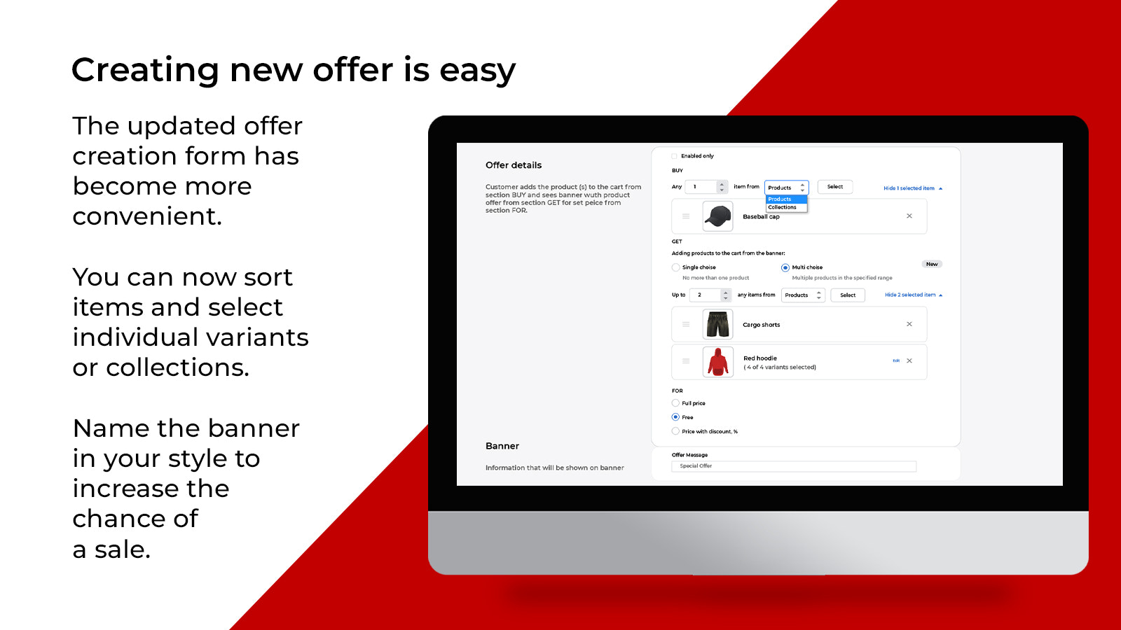 Creating offers