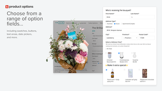Callia flowers product options selector