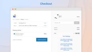 Checkout Shipping Rates by ZipCode