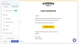 Email templates for Shopify, upload logo