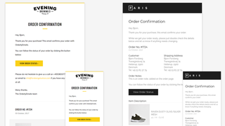 Email templates for Shopify, custom email designs