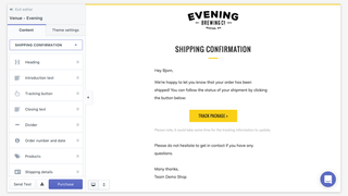 Email templates for Shopify, add theme sections
