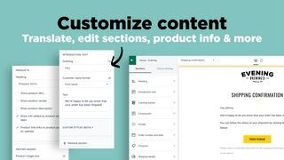 OrderlyEmails: Translate, edit sections & product info of emails