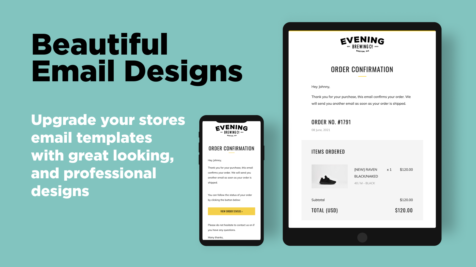 Shopify email template customizer. Beautiful designs