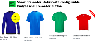 Show pre-order status with configurable badges