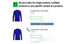 Set pre-order for single, multiple products or any varianti