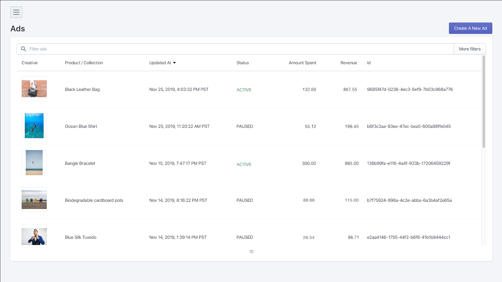 Manage and track the ROI of your ads
