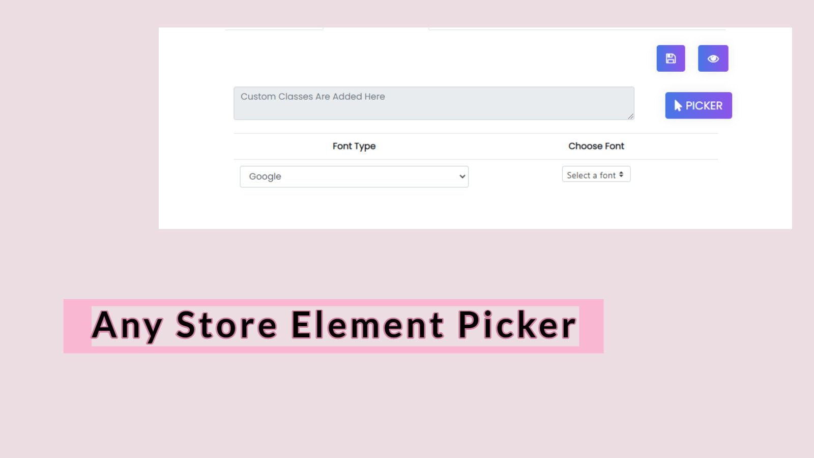 Add Custom Fonts to Shopify Store Using Element Picker