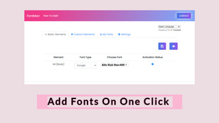 Easy One Click Setup For Store Fonts