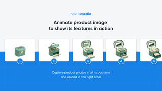 Animate images to show product features in action
