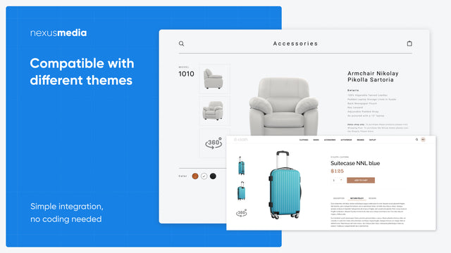 Compatible with different themes 360-degree image