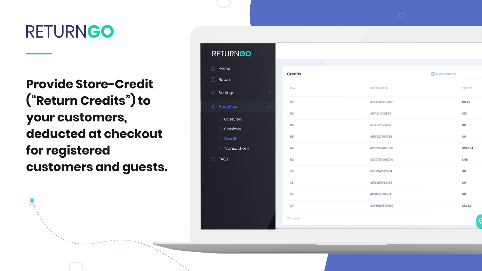 Store credit solution