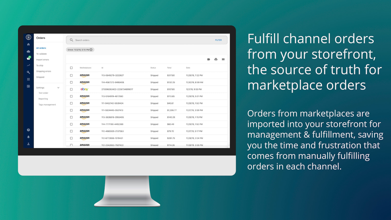 Automatic order importing into Shopify for seamless fulfillment