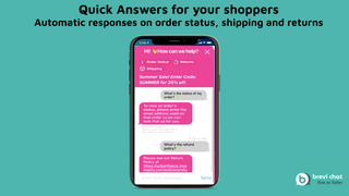 Quick, automatic answers for your shoppers on shipping etc.