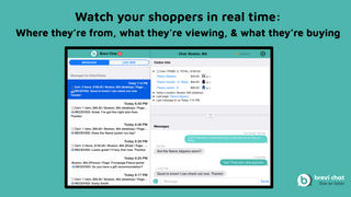 Watch your shoppers activity in real time.