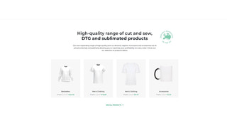 High-quality range of cut and sew, DTG and sublimated products