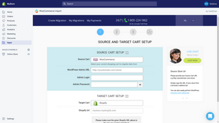woocommerce to shopify transfer by Cart2Cart