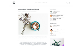 Shopify WordPress Blog - Widgets