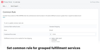Common rule for blended shipping