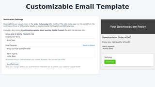 Customizable Email Template