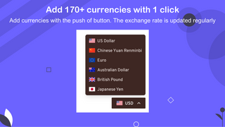 adding 170+ currencies with 1 click