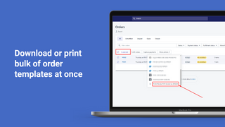 Download or print bulk PDF Invoice and order templates at once
