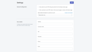 Drag and Drop PDF Invoice user interface