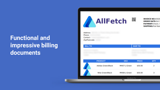 Functional and impressive billing documents and invoice