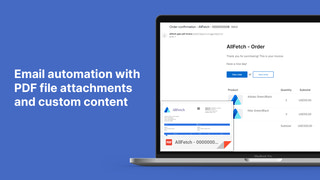 Email automation with PDF Invoice attachments
