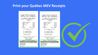 Printed Mev receipts