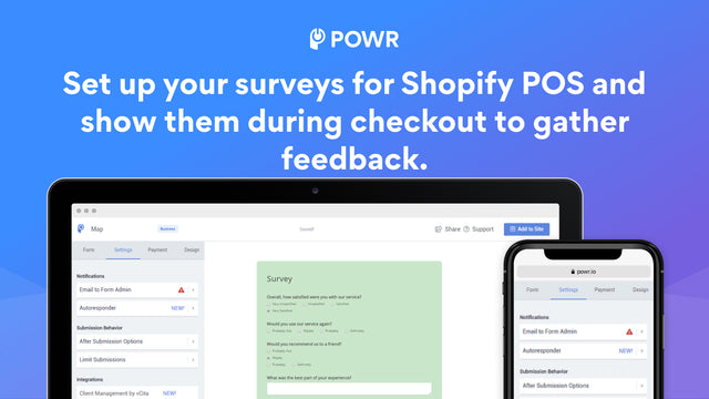 Set up surveys for Shopify POS during checkout.