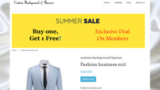 Background and Banner of a product page