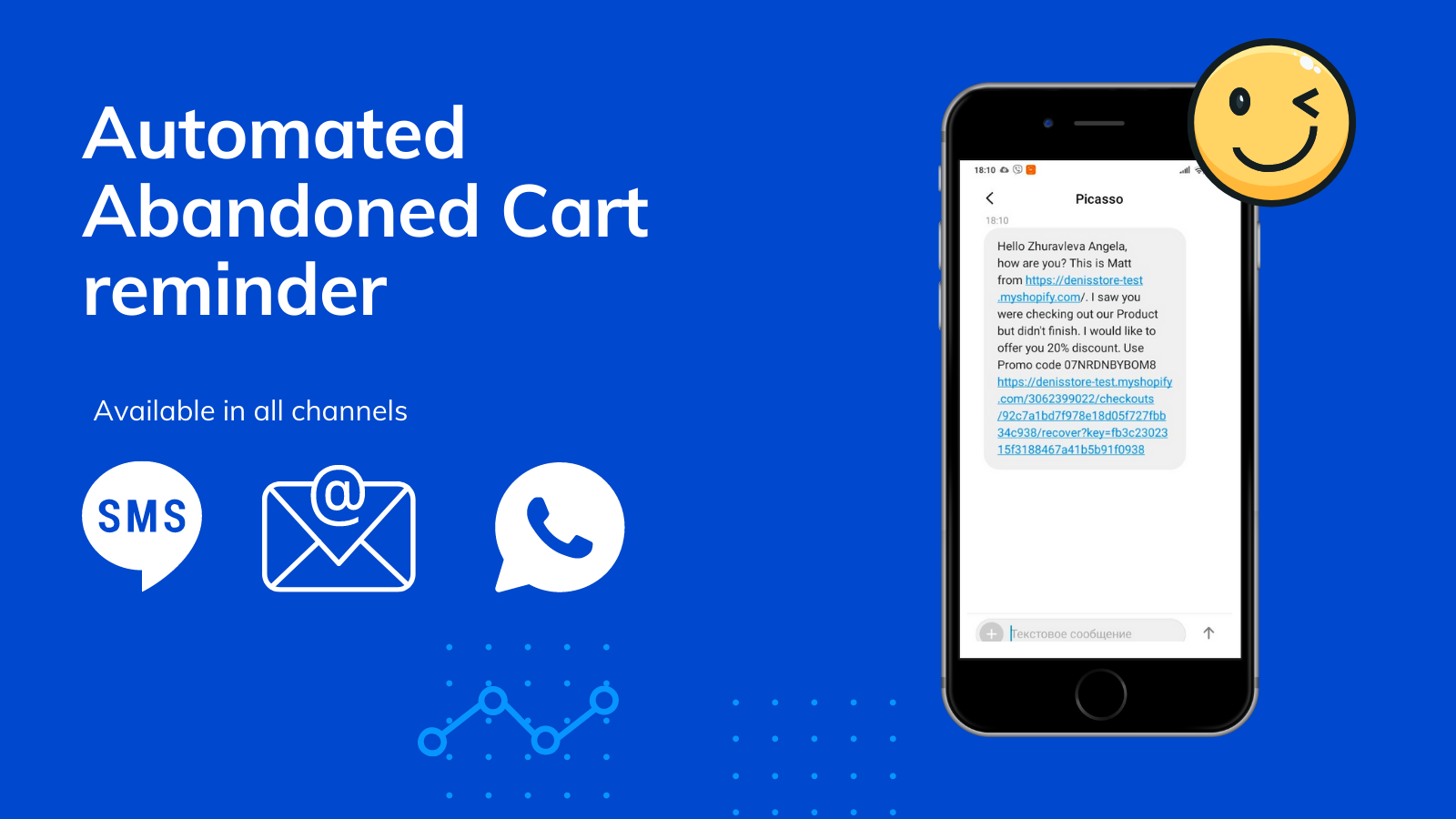 Recover abandoned carts with our SMS automations