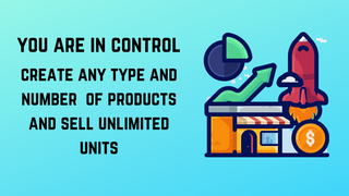 create any type of POD products and sell unlimited units